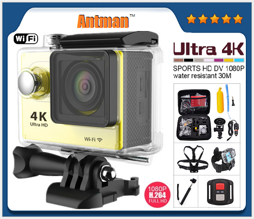 4K WiFi Sport DV 2.0 LCD 30M Waterproof 30fps WiFi Ultra HD 4K Action Camera