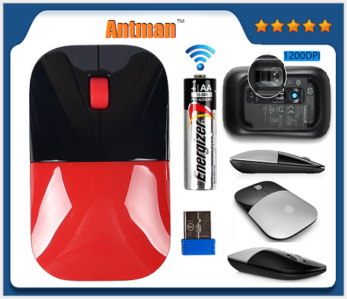 2.4G Slim Wireless Mouse with Nano Receiver, Noiseless and Silent Click with 2000 DPI for Mac