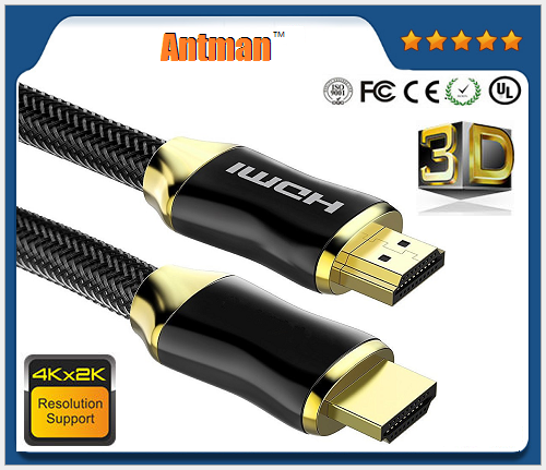 4K High Speed HDMI Cable (4K 60Hz) Gold Plated Connectors Ethernet / Audio Return Channel