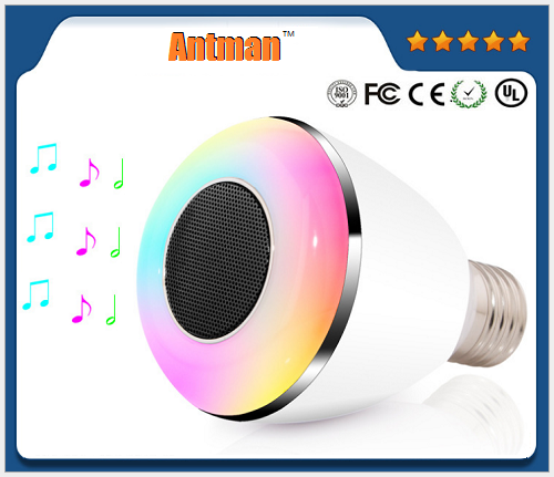 New technology smart Led light bulb speaker bluetooth with mobile app control For iOS Android