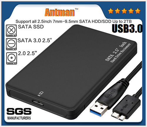 Hot selling HDD protector ABS 2.5 inch hdd enclosure USB3.0  9.5mm HDD case