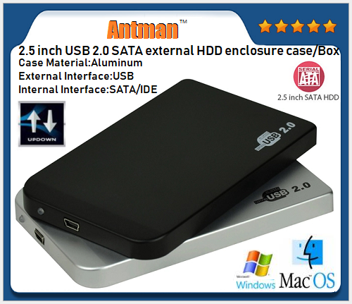 2.5 inch thunderbolt hdd enclosure aluminum hdd case usb2.0 external hard drive enclosure