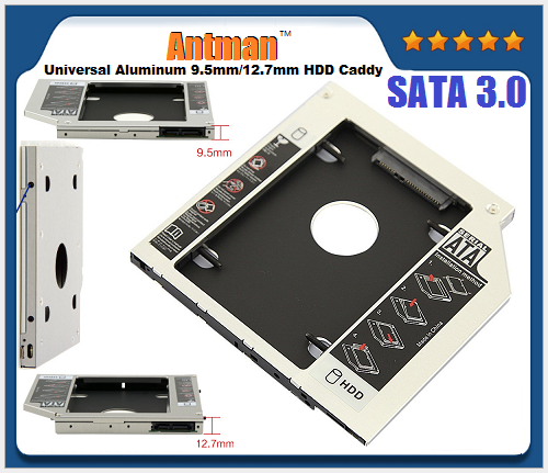 Universal Aluminum second HDD Caddy 2.5