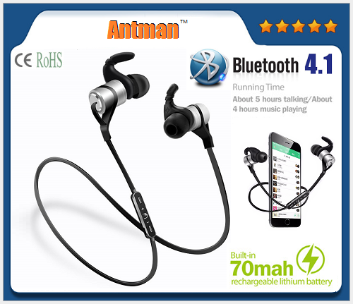 D9 Sports Bluetooth V4.1 Earphone Wireless Headset support Neckband Upgraded