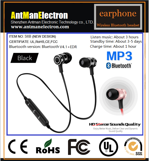 Bluetooth V4.1 Earphone Wireless Headset Connect 2 device