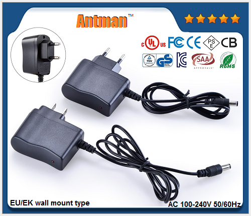 EU/EK constant voltage wall mount adapter AC DC power supply
