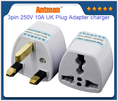 ABS material 3pin 250V 10A UK Plug Adapter charger Travel wall power Chargers adapter