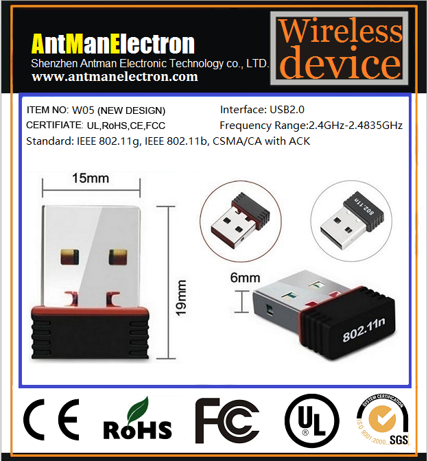 Mini 150M Wireless Wifi Adapter Dongle Receiver 2.4GHz 802.11b/g/n RT5703/MT7601/RTL8188cus chipset for computer
