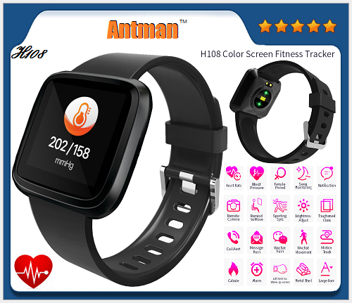 H108 IP67 Waterproof Pedometer Sport Fitness Activity Tracker Blood Pressure Smart Bracelet