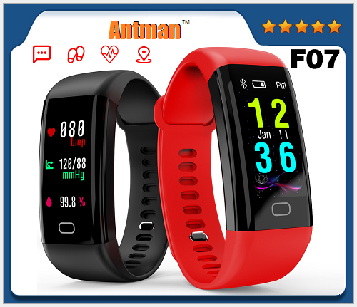 F07 smart bracelet ip68 waterproof 0.96inch color screen smart wristband