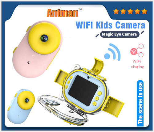2.4inch 1080P IP68 Wifi waterproof digital camera children Sport diving dual lens camera